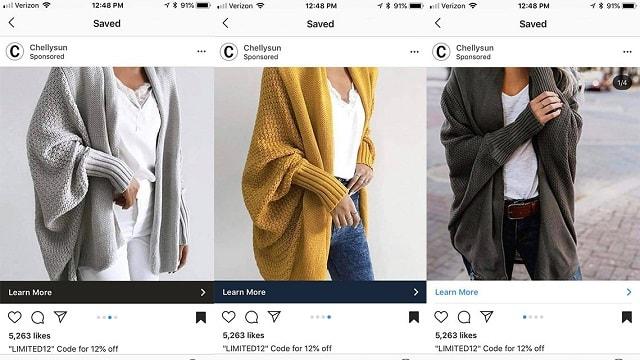 Wie du Instagram Advertising effizient nutzt Karussell Anzeigen