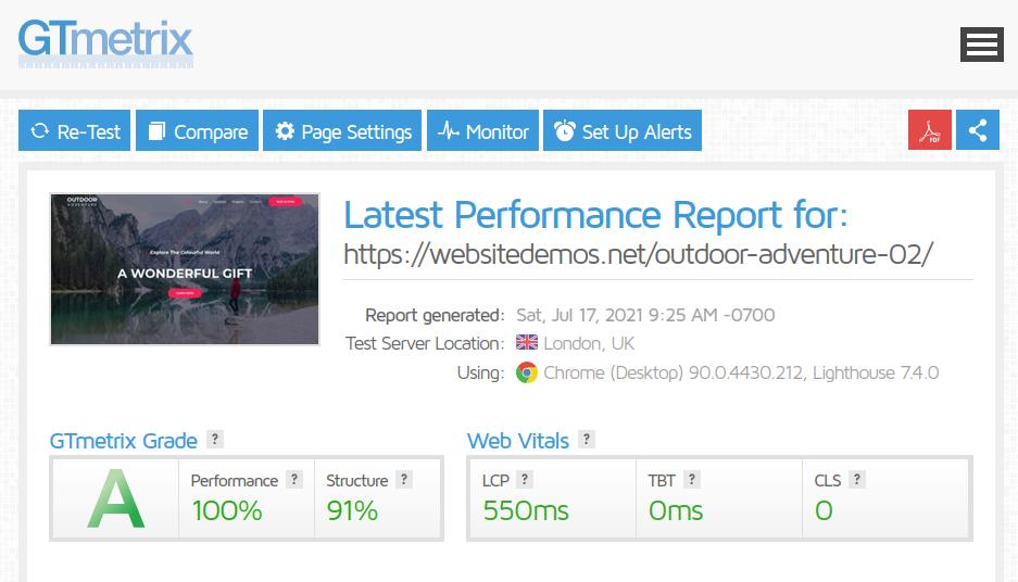 WordPress-Theme-GTmetrix-Astra