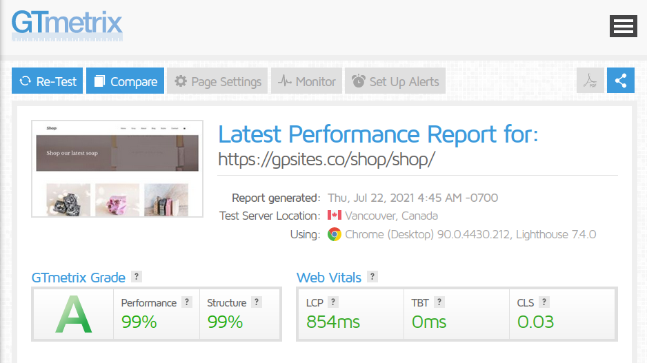 WordPress-Theme-GTmetrix-GeneratePress