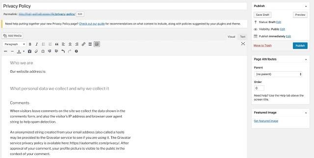 WordPress Update für Websites kleiner Unternehmen DSGVO