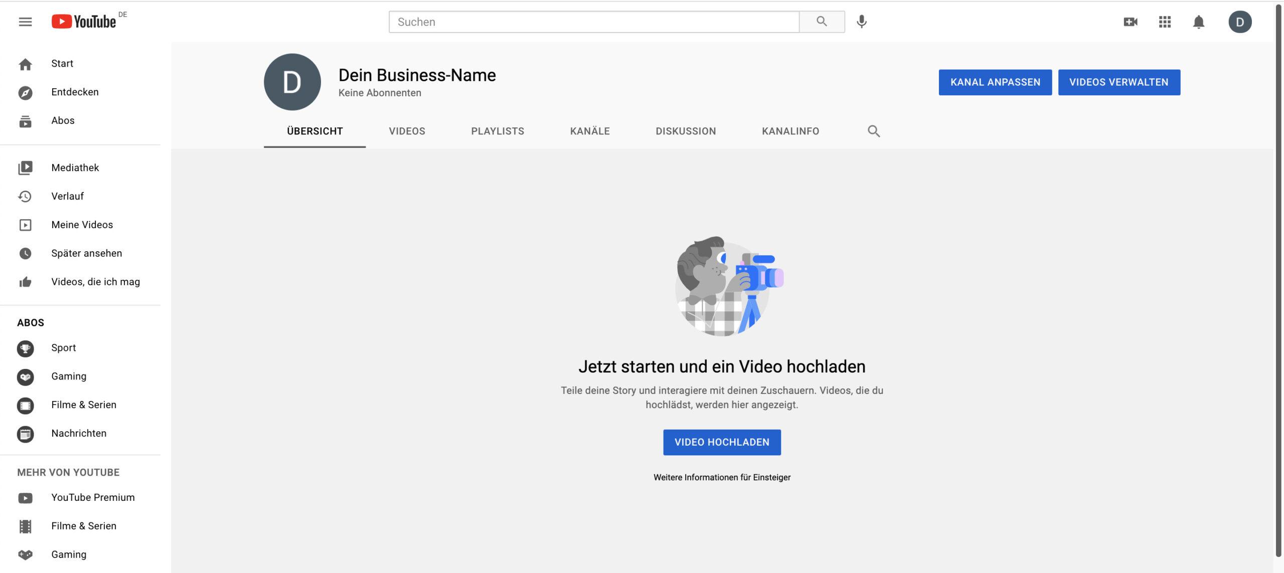 YouTube für Unternehmen_So erstellst du einen Kanal richtig_Kanal
