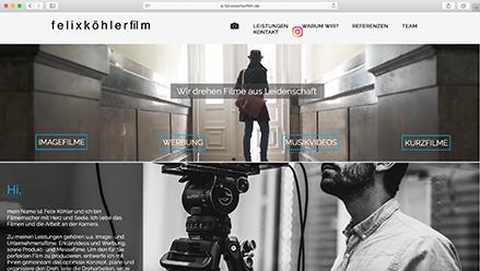 felixköhlerfilm- Ein Filmemacher mit Herz und Seele Website