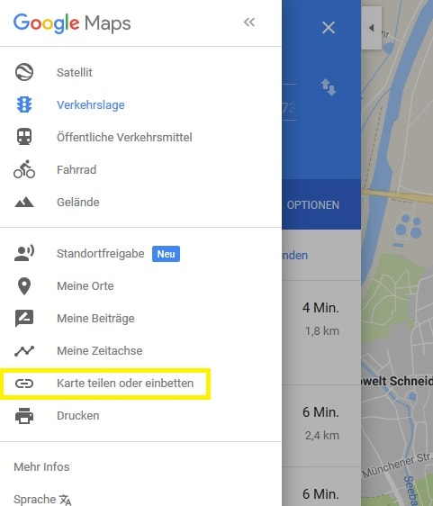 Google Maps Karte zwei