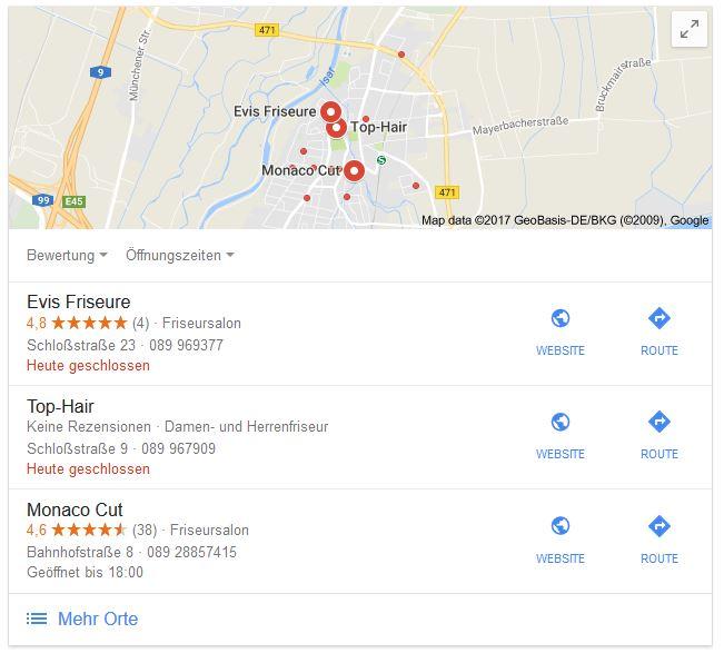 Lokale Sucherergebnisse