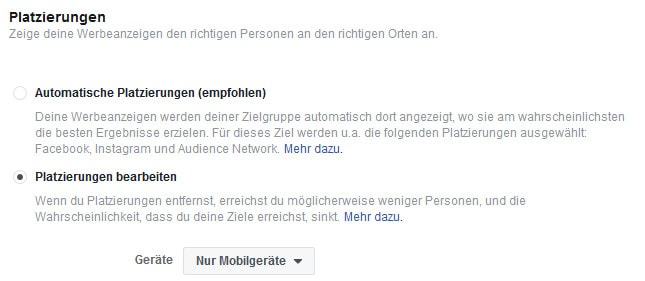 Restaurant Marketing Facebook Platzierungen