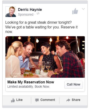 Restaurant Marketing Facebook Ad